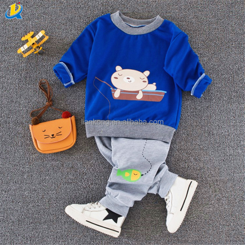Print Pullover Kids Sports Style Hoodies Children Cotton Basic Tops for Wholesale