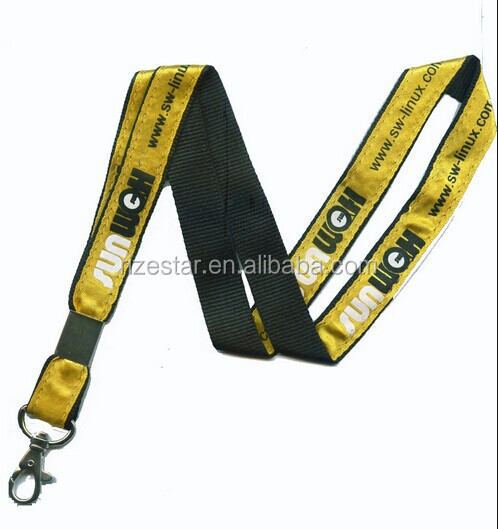 Beautiful satin and polyester stitched two-lanyer lanyard