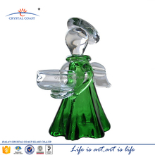 6.3''H hand blown small western glass angel figurines