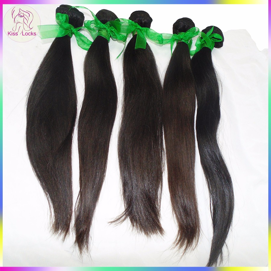Full Cuticle Natural Straight BEST 10A Cheap RAW Pure Human Hair Cambodian Hair Bundles Machine Double Wefts