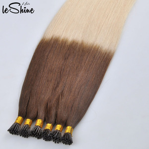 Dark Brown Ombre 100% Remy Nail Tip Human Hair Extensions