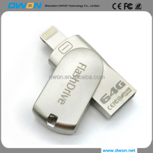 2 in 1 OTG FlashDrive USB 64 gb 32 gb 16 gb Pen Drive USB 2.0 Memory Stick U Disk per IPhone/<span class=keywords><strong>Ipod</strong></span>/ipad Air