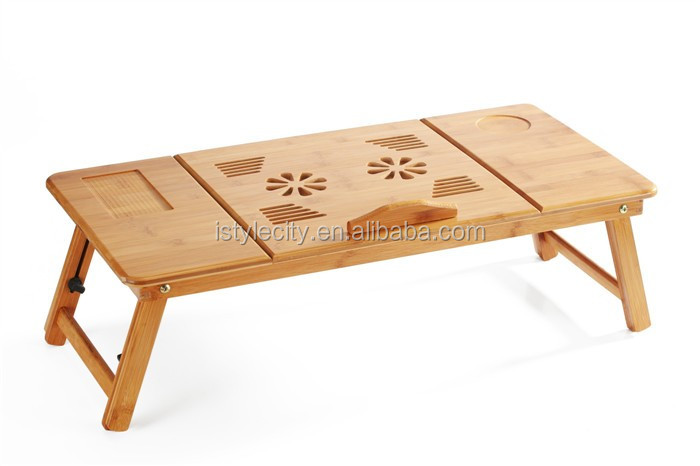 Adjustable Wooden Laptop Table/ Laptop Computer Desk Portable Bed Tray Book  Stand