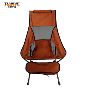 ultralight camping garden iron chair brown foldable fishing chair for wholesale