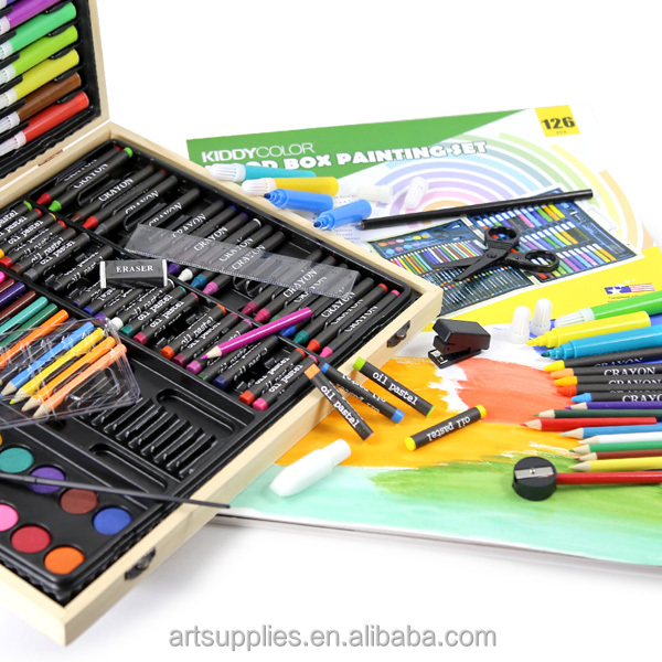 Artist Painting Set/ Kids painting set/ Stationery set in wooden box