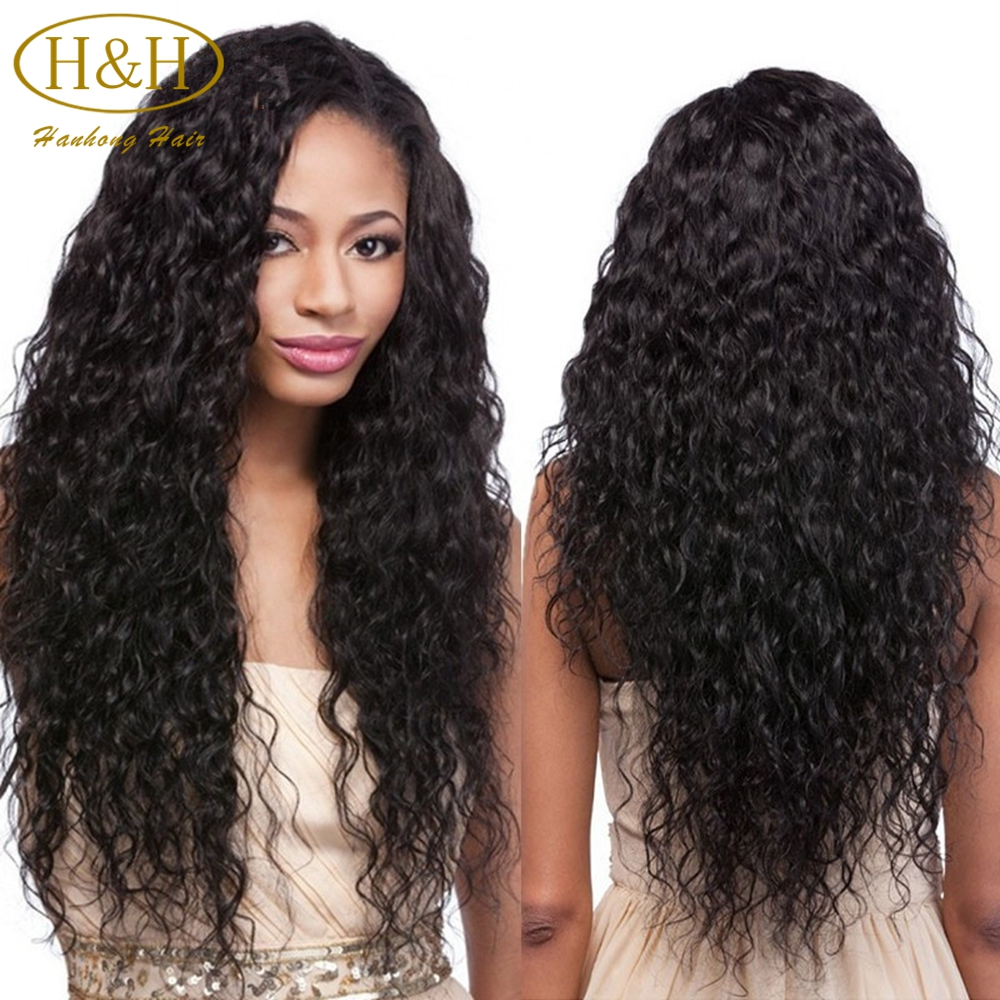 Fast shipment wet and wavy virgin brazilian human hair full lace wig with baby hair