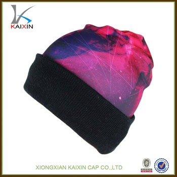 7f0681fe2dedea Stylish Custom High Profile Sublimated Beanies With Polyester - Buy ...