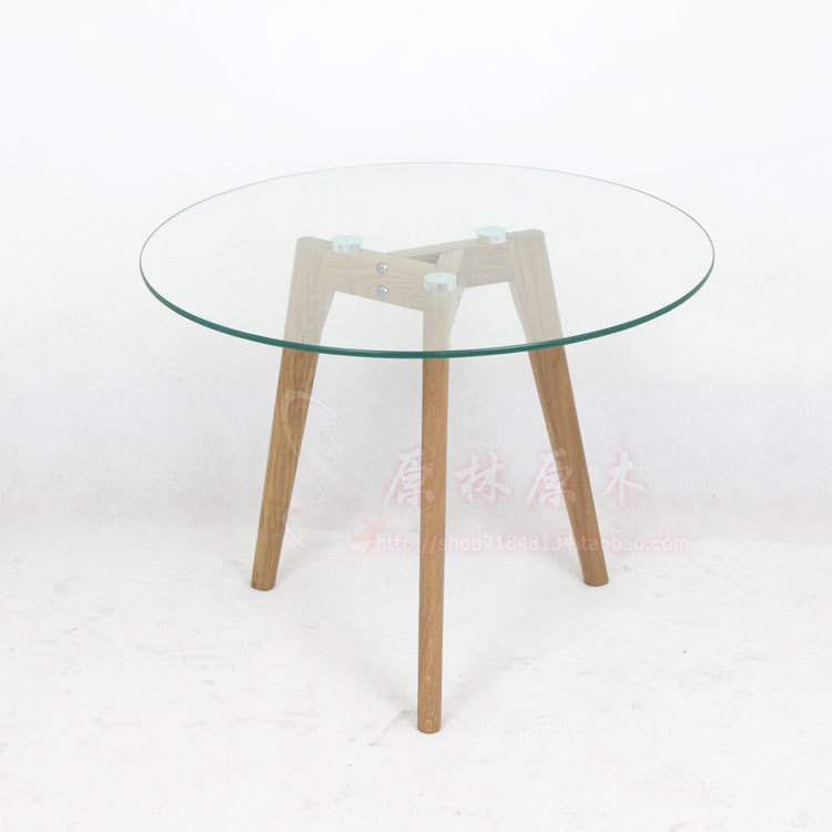 Round Table Madera.Nordic Japanese All Solid Round Glass Coffee Table Small Round Table Coffee Table Coffee Table Creative Wood