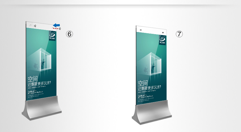 Exhibition Stand Poster Design : Indoor hotel advertisement board design with safety glass