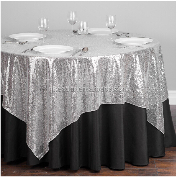round sequin embroidery organza table cloth