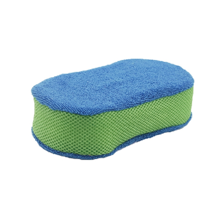 Car Cleaning Wash Sponge with Microfiber Cloth