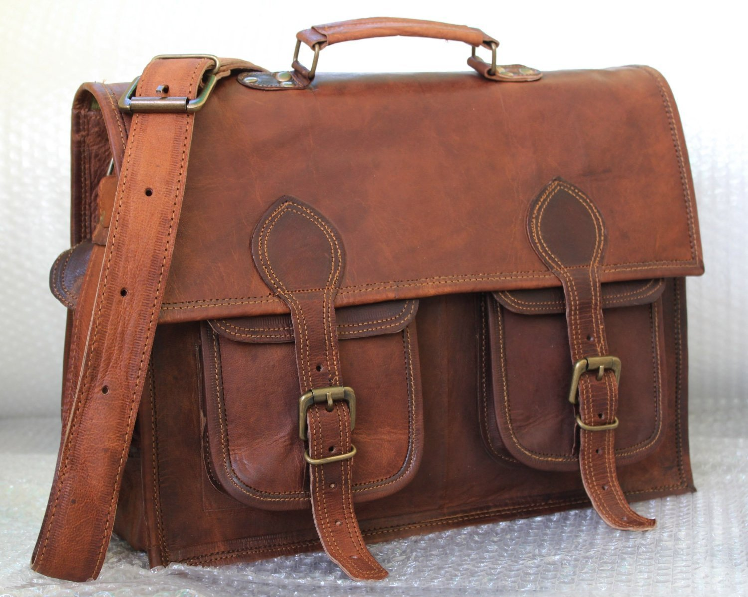 Handmadecraft Handmade Vintage Style Camera Bag/ Messenger/ Camera Briefcase/camera Messenger Bag/dslr Bag (Dark Brown)