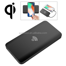 Alibaba hotselling HAMTOD Portable Intelligent Qi Standard Wireless Charger / Power Bank, Support Fast Charging for Samsung