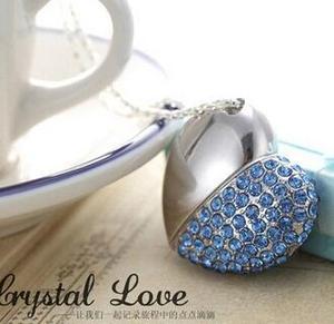 heart shape crystal pendrive heart shape pandrive