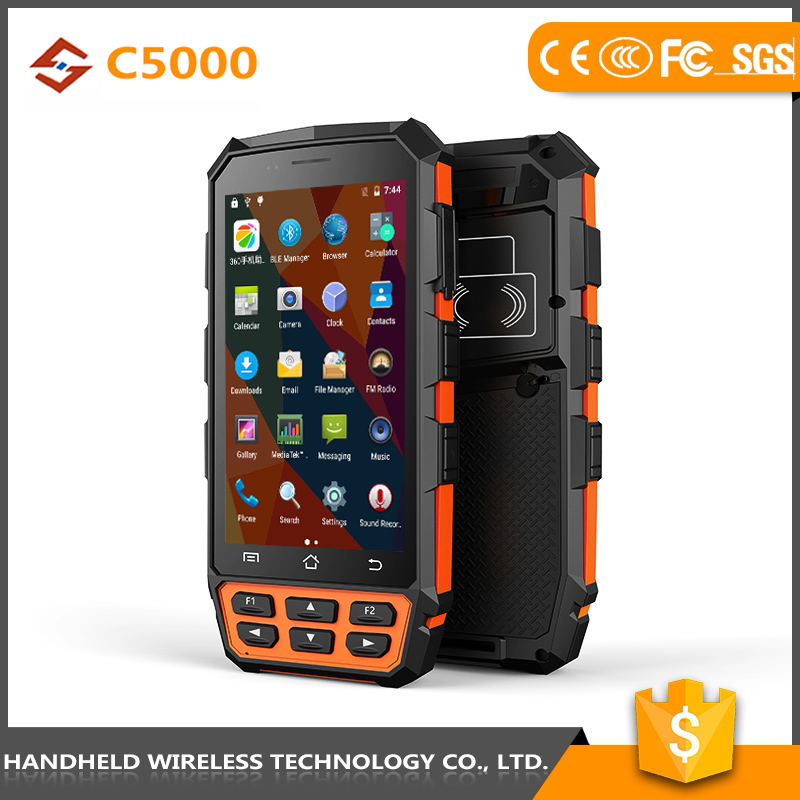 Latest new model good quality handheld C5000 rugged ip65 andrioid 4g android scanner