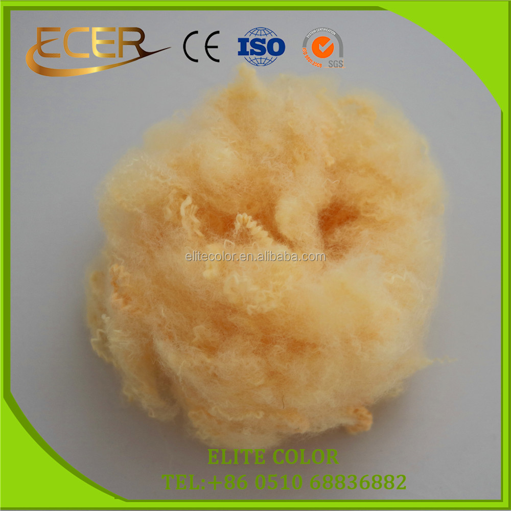 BIG MANUFACTURER MATERIAL TEXTILE SOLID RECYCLED DOPE DYED POLYESTER STAPLE FIBRE