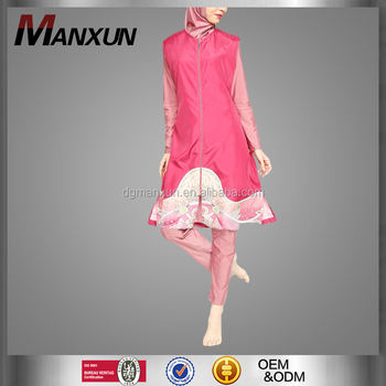 Pink girl new style muslim swimming wear wholesale high quality turkey swimming suit