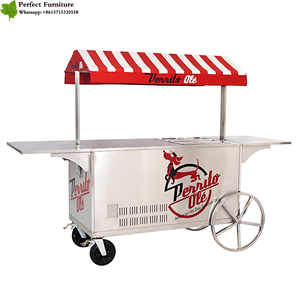 Free 3D design retail cupcake cart food vending carts crepe cart for sale