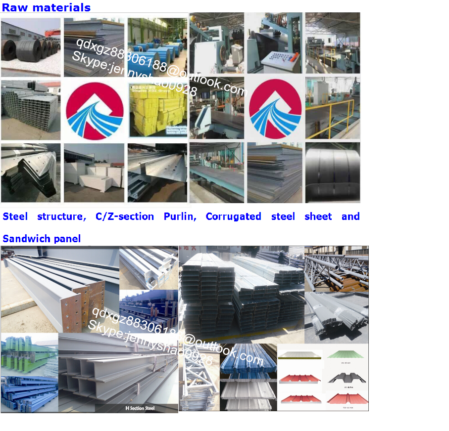 prefabricated light steel structure warehouse made in china with low price