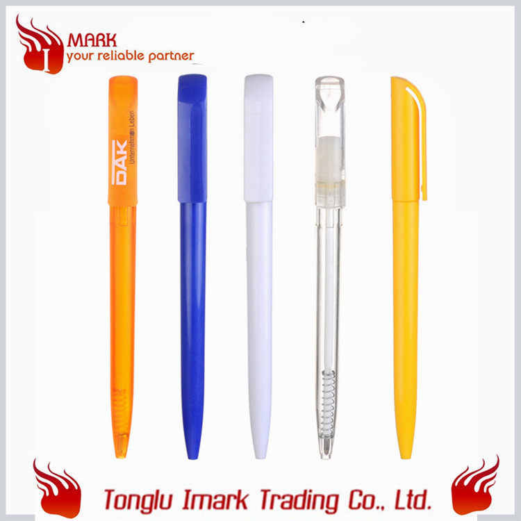 Cheapest advertising transparent twist ball pen