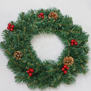 Christmas Pine Garland.Green Christmas Pine Cone Garland