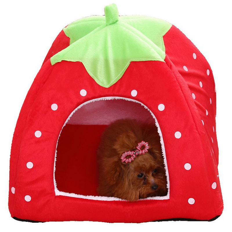 Promo Winter felt cattery Strawberry house pet accessories cat house