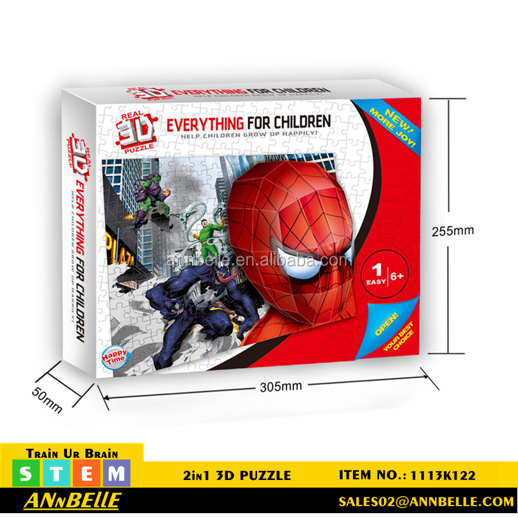Stem Educational Toys 3d Puzzle Spider Man Puzzle 3d ...