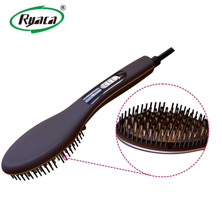 electric hair styling brushes ryaca newest ceramic electric hair brush straightener 5544