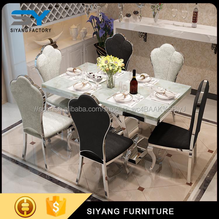 Venta al por mayor mesa de comedor y 6 sillas baratas-Compre online ...