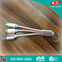 Wholesale 4 in 1 USB3.0 3ft Micro usb charging cable 8 pin multi-function retractable usb cable