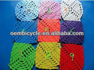Colorful KMC Fixed Gear Bike Chain