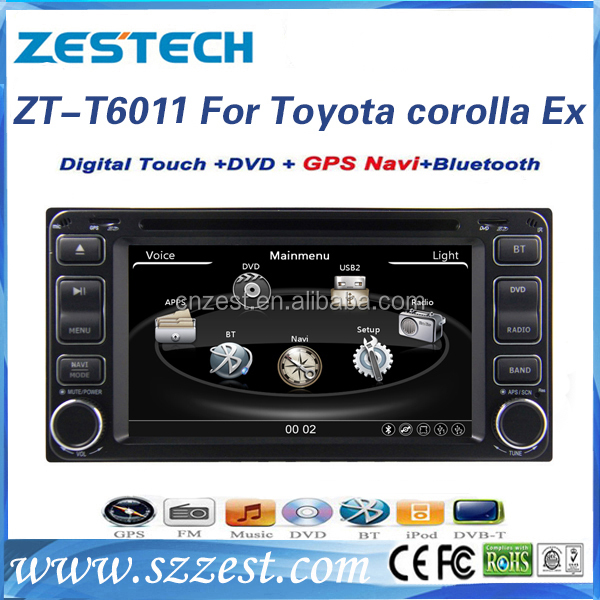 OEM 6.2 inch 2 din car multimedia system for Toyota Sienta car audio system with GPS, BT, Radio, SWC, DTV, ATV, 3G, Wifi, DVR
