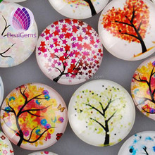 Wholesale round glass cabochon with ancient cartoon pattern picture
