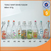 1L airtight decal glass wine bottle juice glass bottle.