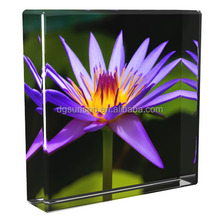 Hot selling large acrylic display cube 3D block logo or picture printed