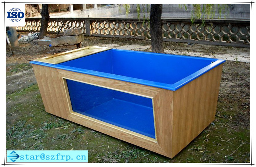 Large fiberglass fish farming water tank fish tank grp for Square fish pond