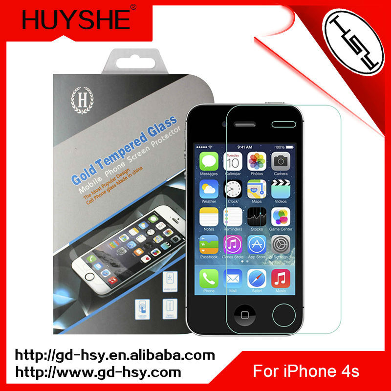 HUYSHE 9h mirror reflect screen protector for iphone 4s tempered screen protector