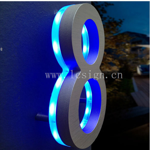 3d Led Advertising Light Box Letter Backlit Mirror