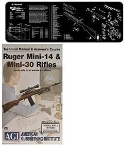 American Gunsmithing Institute DVD Manual & Armorer's Course Ruger Mini-14 & Mini-30 Rifles + Ultimate Arms Gear Gunsmith & Armorer's Cleaning Bench Gun Mat