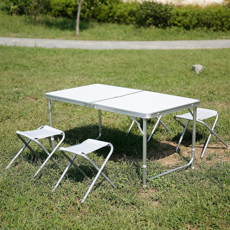 portable folding table and chair set office folding chair& 120cm Alu table set new style 2015
