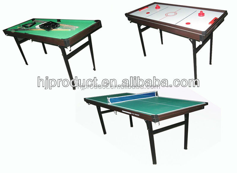 3 In 1 Multi Game Table With Foldable Metal Legsfolding Multi Table