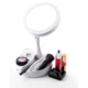 With many LED lights useful makeup mirror with 3 colors