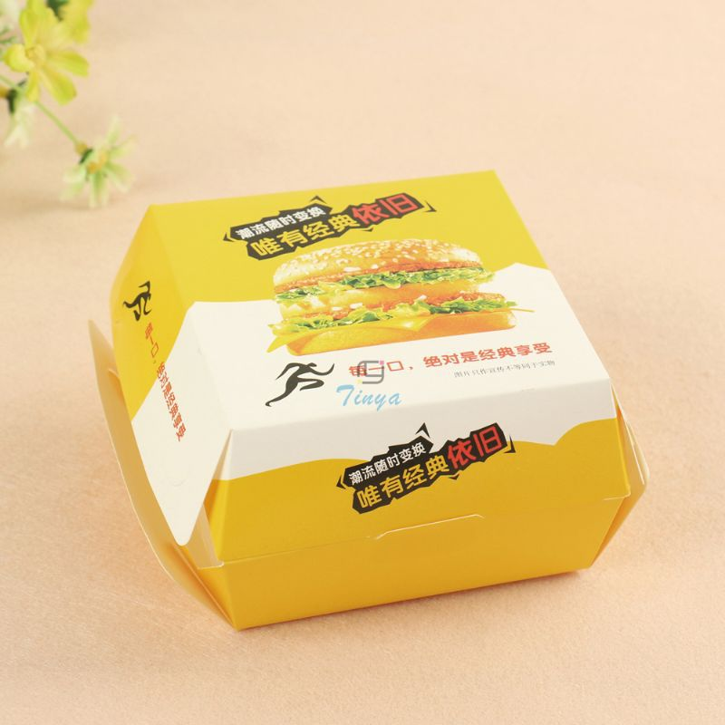 Disposable Recycled Custom Design Burger Box Buy Template