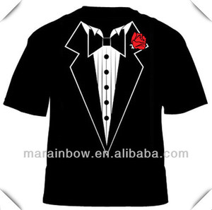 Sublimation all over body vivid printing Tuxedo T Shirt for Dress Party)