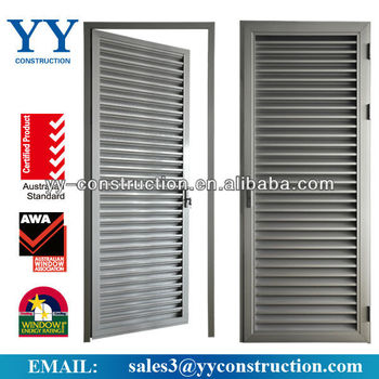 aluminium casement ventilation louvers door with fix. Black Bedroom Furniture Sets. Home Design Ideas