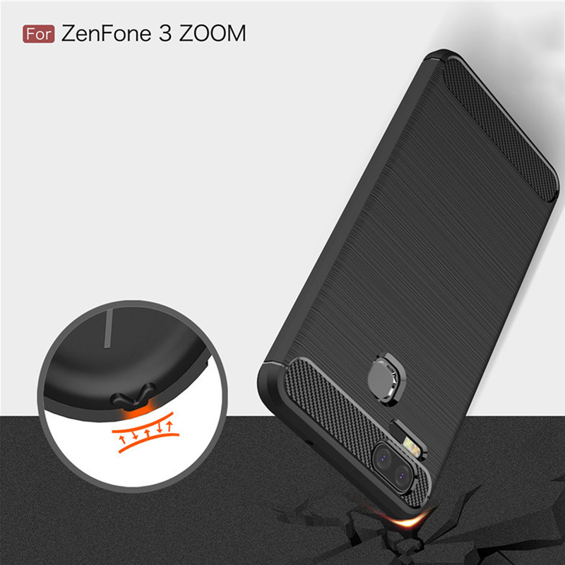 Premium Back Cover For Asus Zenfone 3 Zoom Carbon fiber Case for For ZE553KL