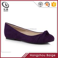 2017 brand wholesale Purple wide fit dress women dancing ballet pumps ladies flat shoes