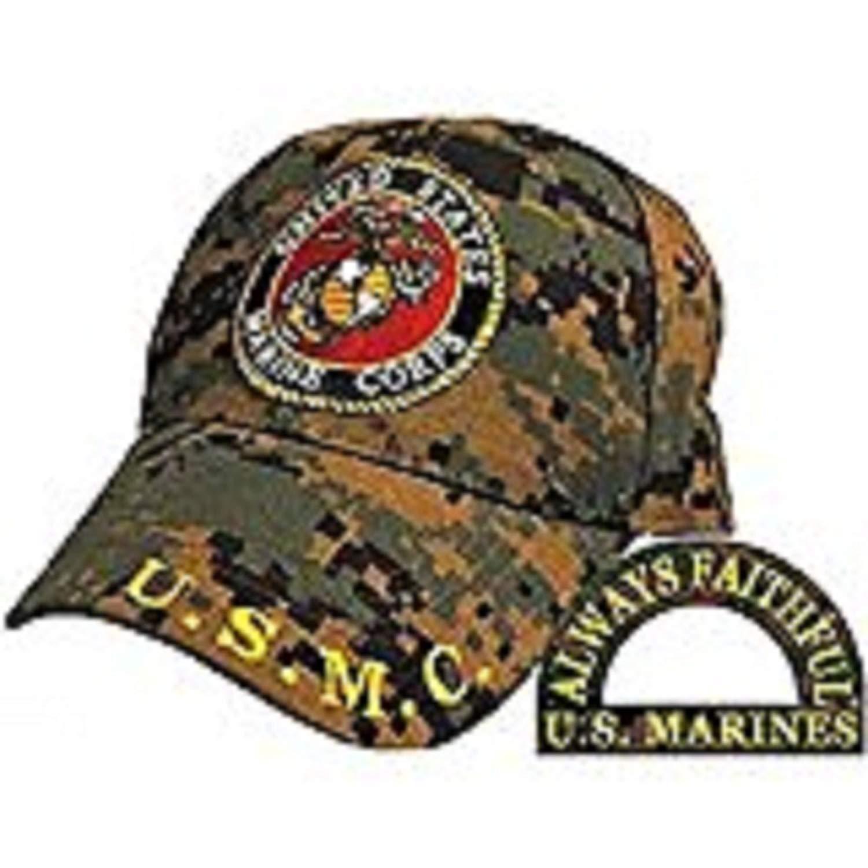 Buy Black ALWAYS FAITHFUL US MARINE CORPS Adjustable Cap w