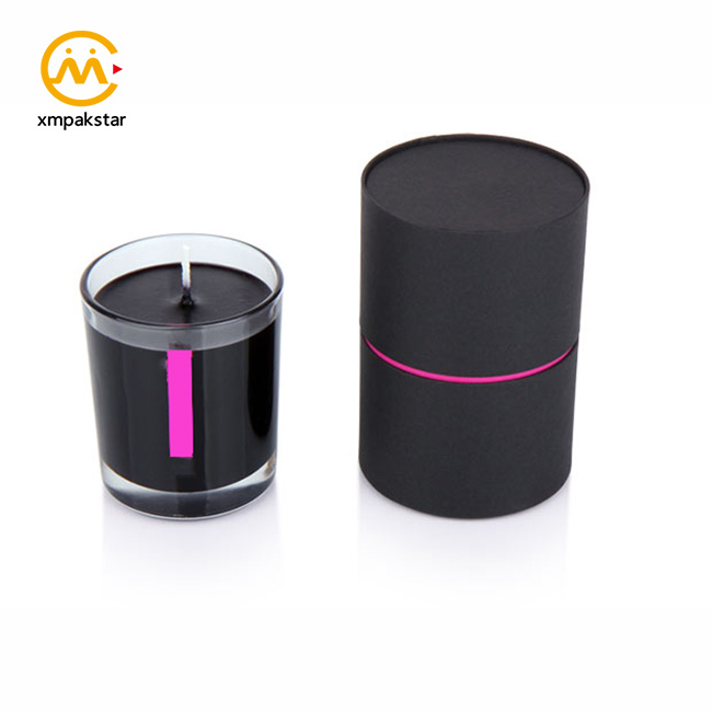 Custom made cardboard round tubes box OEM candle packaging paper canister