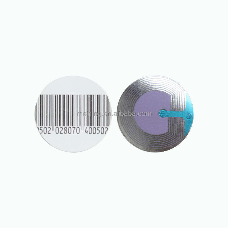 3*3cm round radio frequency soft labels eas tags and labels